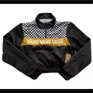 Vans Elevated Crop Checkerboard Track Jacket